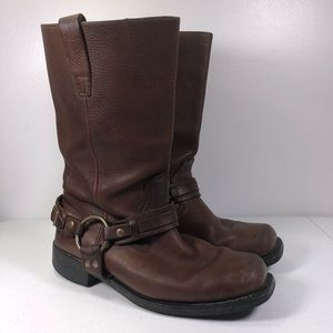 Other - Hand made Leather Square Harness Motorcycle Boots